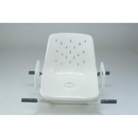 siège de bain pivotant epoxy blanc.